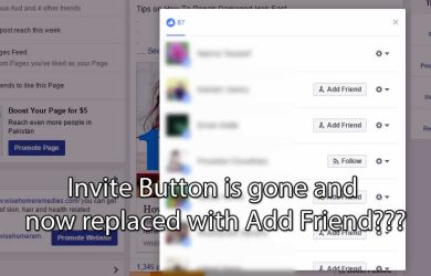 Facebook Invite To Like Page Is No Longer Working