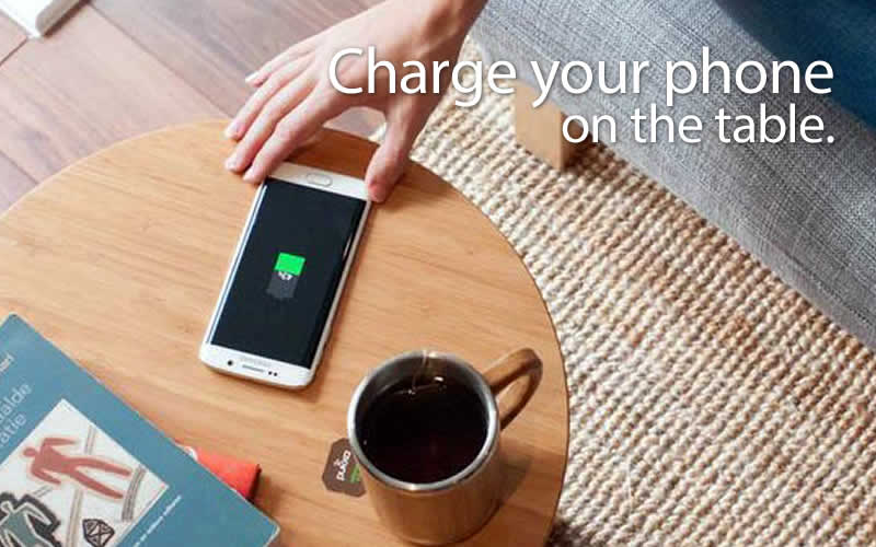FurniQi Table Charges Your Phone, Without a Cable