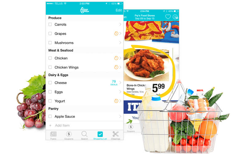 Flipp App Shopping List