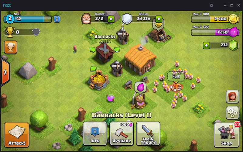 Clash of Clan COC Running on Nox Android Emulator - App Player
