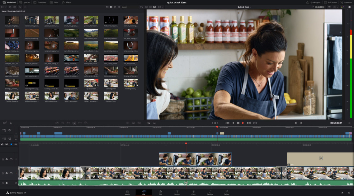 DaVinci Resolve 17 can automatically crop Instagram-ready video clips