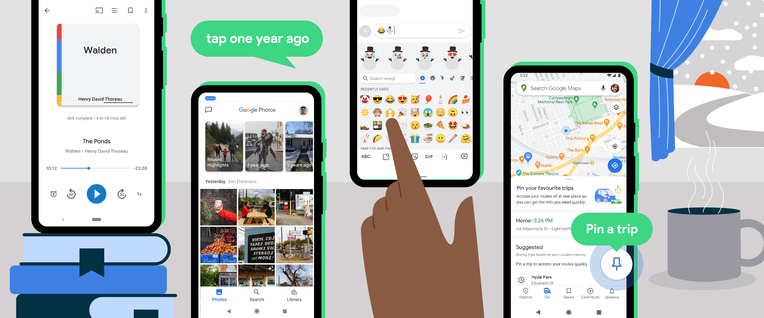 Android's winter update adds new features to Gboard, Maps, Books, Nearby Share and more –
