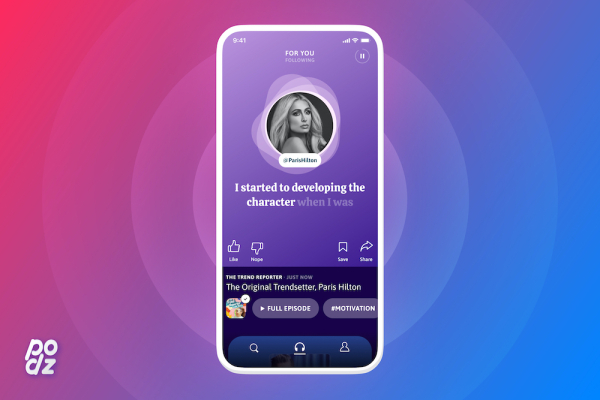 Podz turns podcasts into a personalized audio newsfeed –