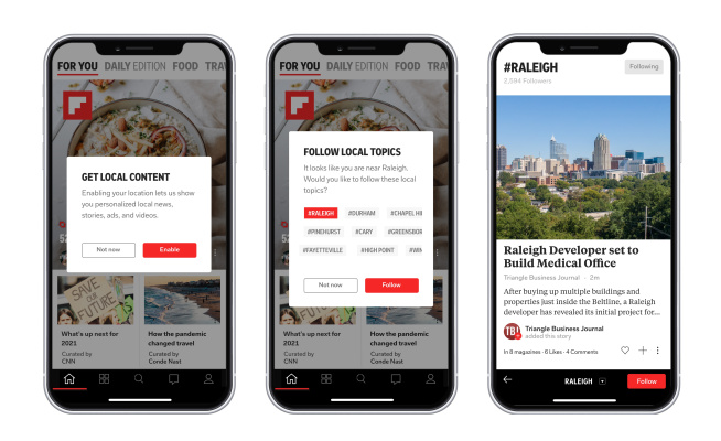 Flipboard expands its local coverage to more than 1,000 cities and towns –